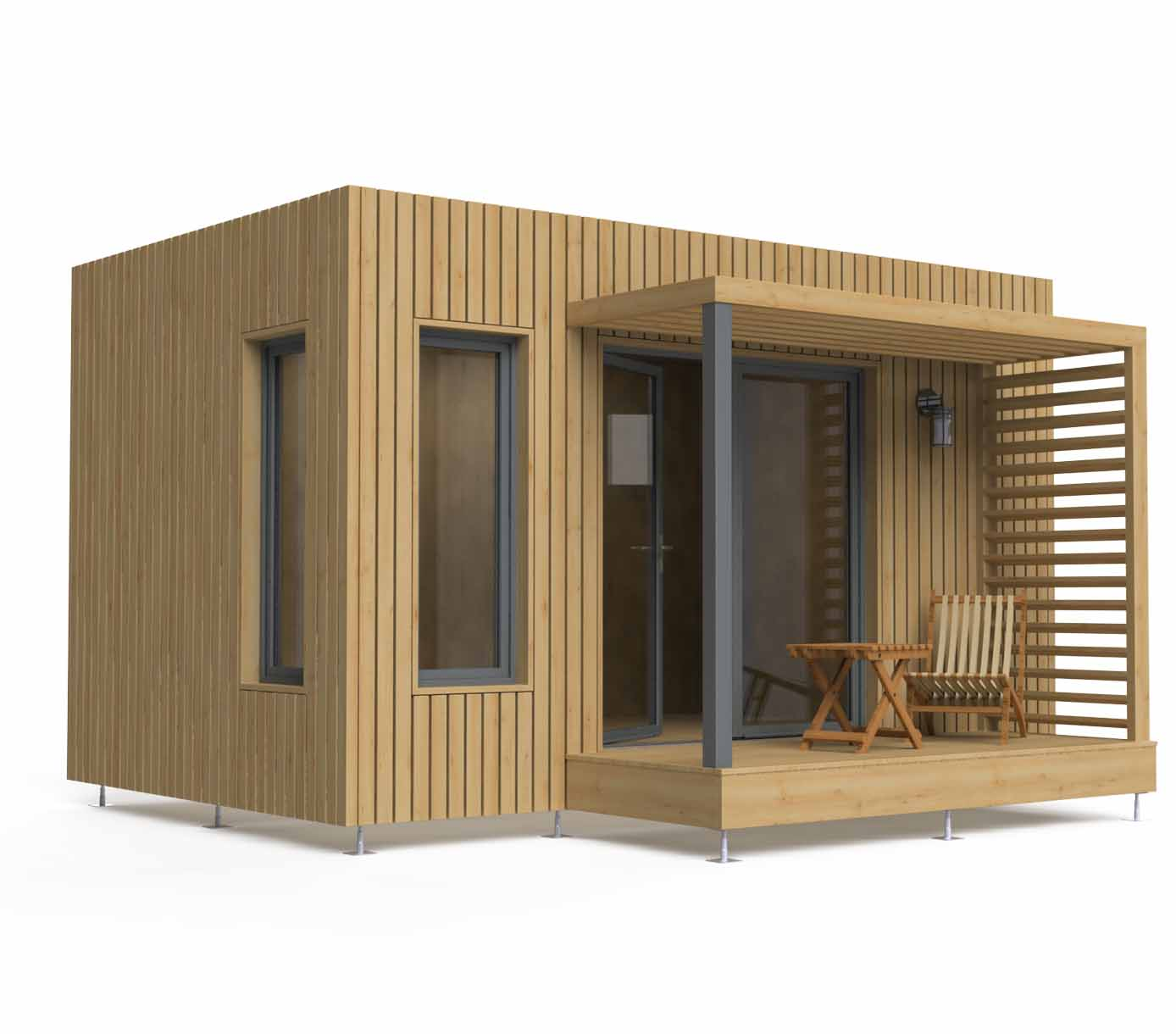 Bureau de jardin en bois de 15m2