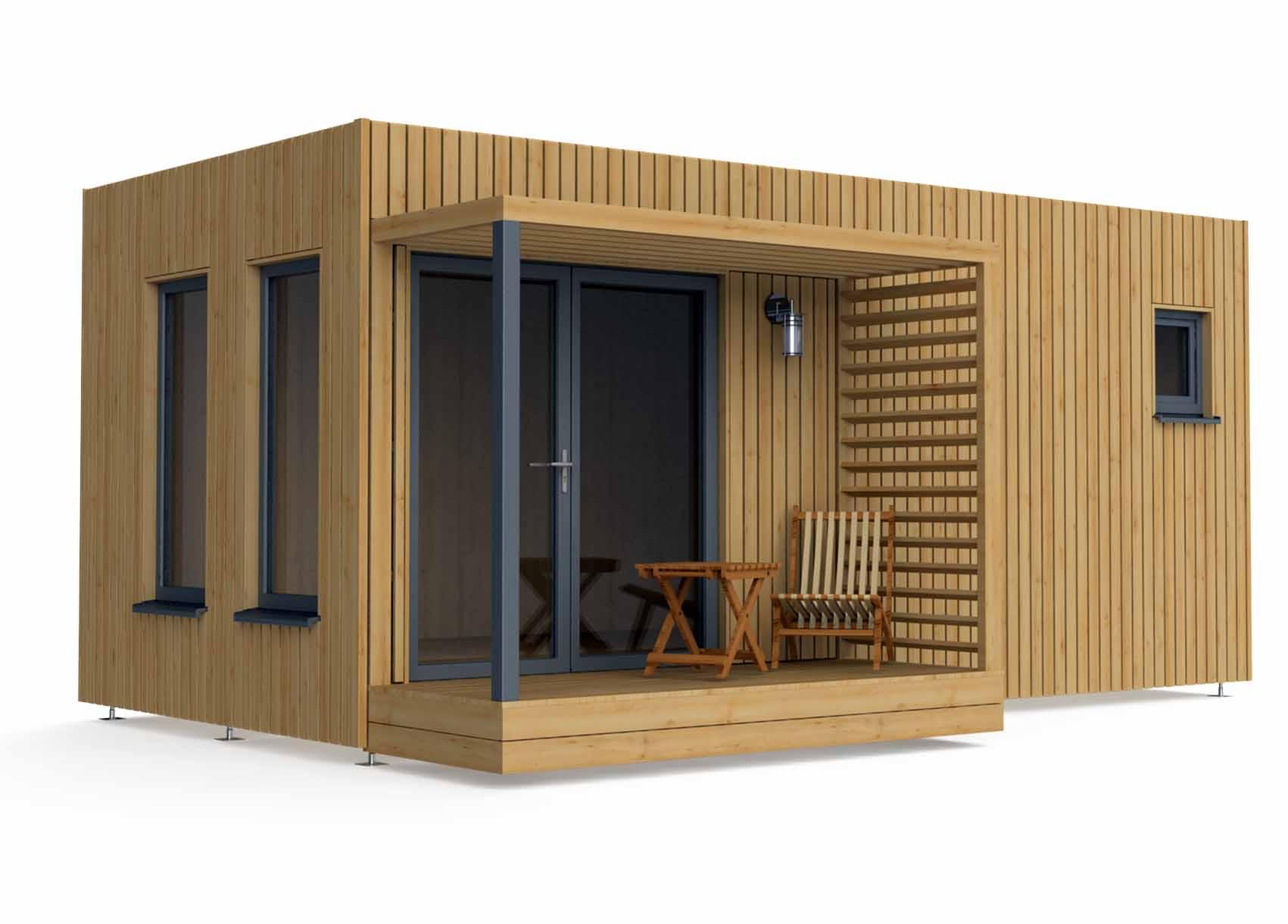 Bureau de jardin en bois de 20m2