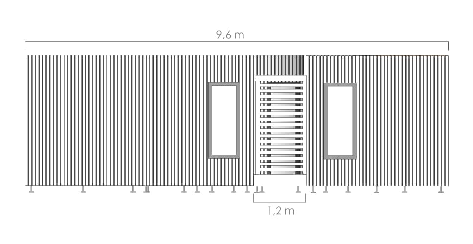 Dimension studio de jardin 40m2