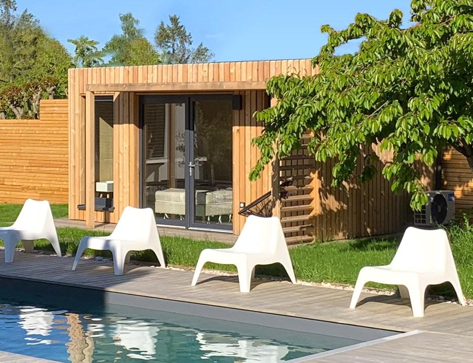 Pool house de 15m2 en bois