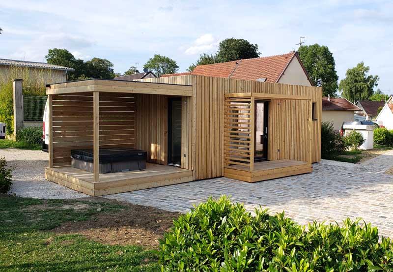 Studio de jardin à louer près d'Epernay